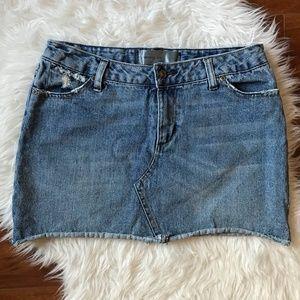 Paper Denim & Cloth Distressed Denim Mini Skirt